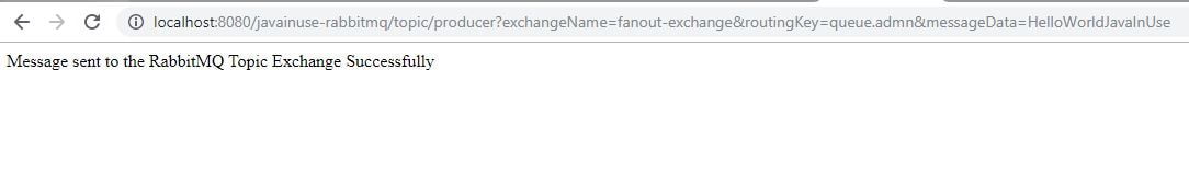 RabbitMQ Fanout Exchange Output