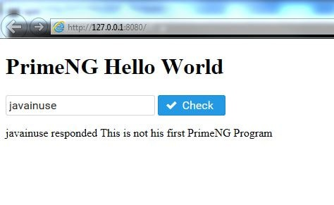 Create a simple PrimeNG application using PrimeNG Components