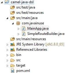 Apache Camel Using Java DSL Hello World | JavaInUse