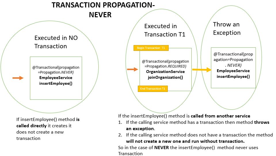Transaction Propagation - NEVER