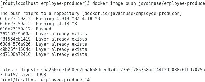 DockerHub Push Image employee producer