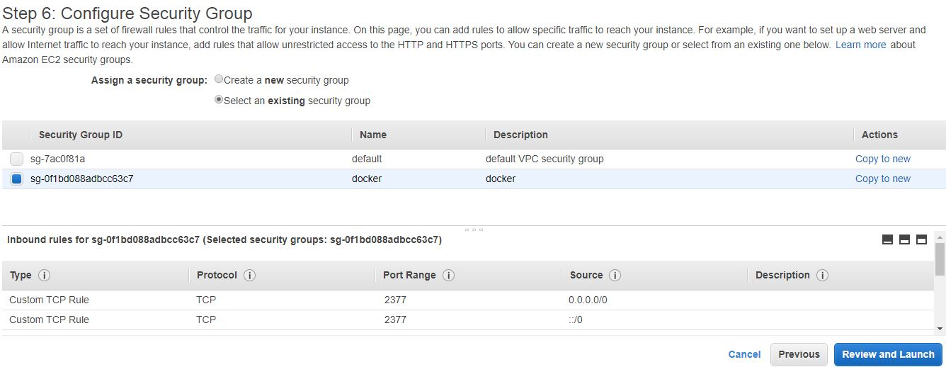 Amazon Linux Configure Security Group