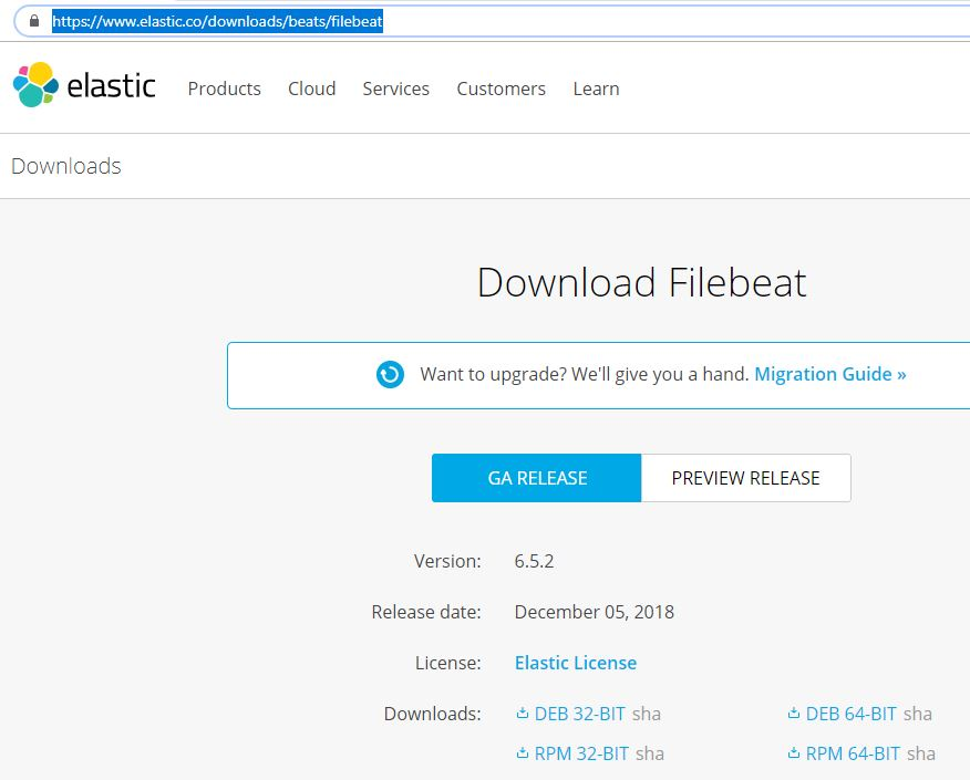 filebeat download example