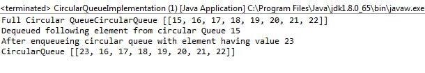 Implement Circular Queue Data Structure using Java | JavaInUse
