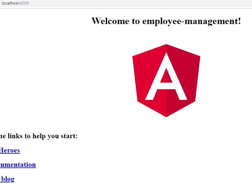 angular 7 hello world