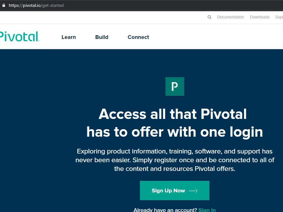 Pivotal Cloud Foundry Home