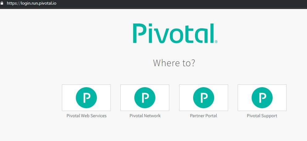 Pivotal Web Services Home